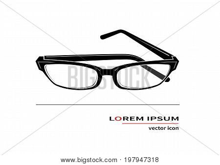 Spectacles icon isolated on background. Vector illustration