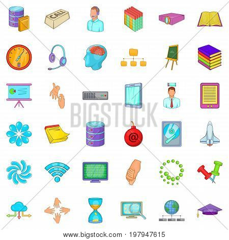 Business seminar icons set. Cartoon style of 36 business seminar vector icons for web isolated on white background