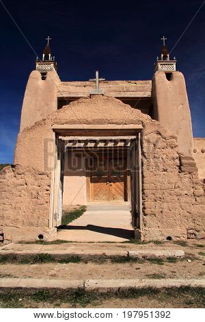 San Jose de Gracia Catholic Church in Las Trampas along the High Road to Taos in Northern New Mexico