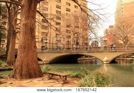 SAN ANTONIO, TX - FEBRUARY 27: Riverwalk, with its numerous hotels and restaurants, is a prime destination for locals and for tourists visiting historic San Antonio February 27, 2017 in San Antonio, TX.