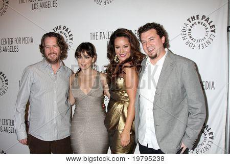 LOS ANGELES - MARCH 10: Steve Little, Ana de la Reguera, Katy Mixon, Danny McBride arrive at the