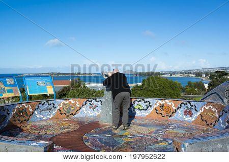 Man At The Kondoli Sculpture, Kleinigs Hill Lookout, Victor Harbor