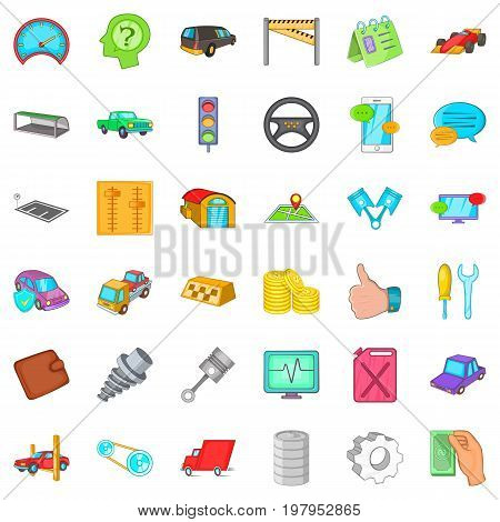 Repair tool icons set. Cartoon style of 36 repair tool vector icons for web isolated on white background