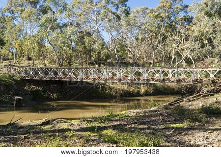 Disused Bridge Crossing Onkaparinga River, Kangarilla, South Australia