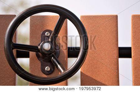 horizontal background image of playground steering wheel