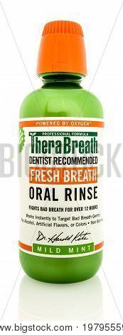 Bottle Of Mouthwash