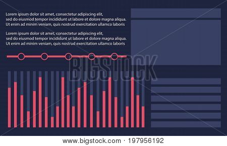 Collection stock graphic business infographic design vector art