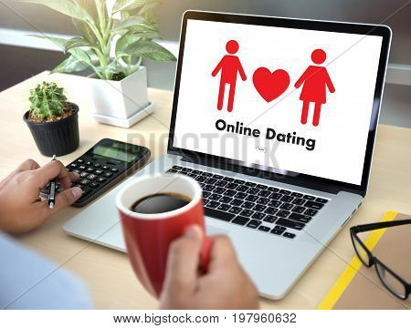 Online Dating Match Love Man And Woman And A Heart, Internet Dating Digital Matchmaking