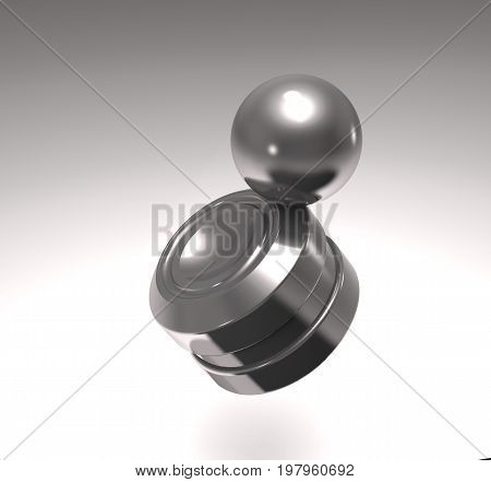 Modern anti-stress magnet toy orbit (3d illustration)
