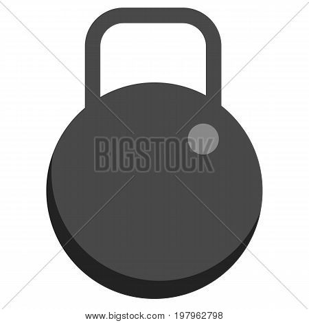 Weight dumbell icon, vector illustration flat style design isolated on white. Colorful graphics