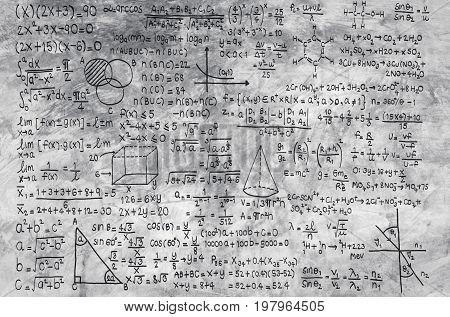 Math Formula On Grey Background