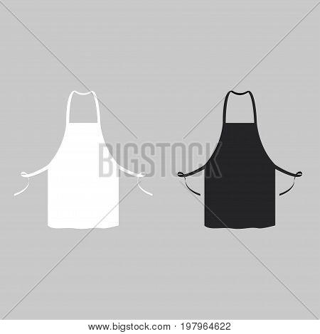 Black and white kitchen aprons. Chef uniform for cooking. Vector illustration