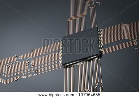 Cpu Chips On Black Circuit Board