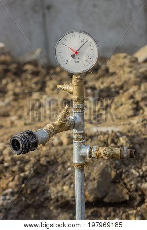 Water Pressure Gauge For Pressure Testing Of Water Main