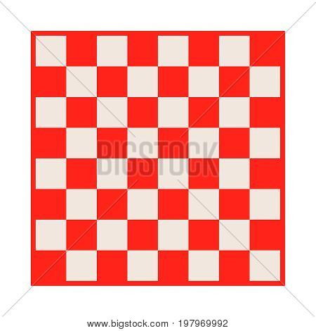 Empty Chessboard Isolated. Board For Chess Or Checkers Game. Strategy Game Concept. Checkerboard Bac