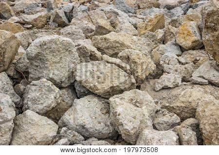 Piles Of Broken Concrete Cement Background