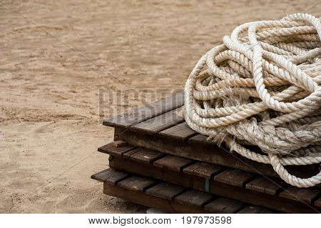 Coil Of Ropes Close Up 01