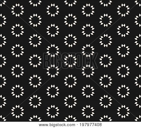 Geometric seamless texture, floral tile pattern. Abstract minimalist monochrome background with simple geometrical shapes, flowers stars. Oriental design for decor, covers, digital, web. Flower background. Arabesque pattern. Modern pattern.
