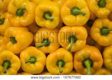 Yellow Peppers Close-up, Close Up Image, Color Image, Selective Focus