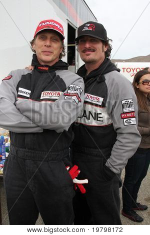 LOS ANGELES - MAR 19:  Bill Fitchner, Kim Coates at the Toyota Pro/Celebrity Race Training Session at Willow Springs Speedway on March 19, 2011 in Rosamond, CA