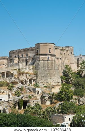 Panoramic view of Massafra. Puglia. Southern Italy.