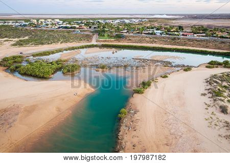 Pretty Pool is a popular swimming hole in the town of Port Hedland, Western Australia, Australia.