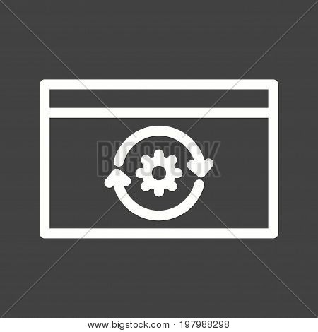 Engineering, business, reverse icon vector image. Can also be used for Data Analytics. Suitable for mobile apps, web apps and print media.