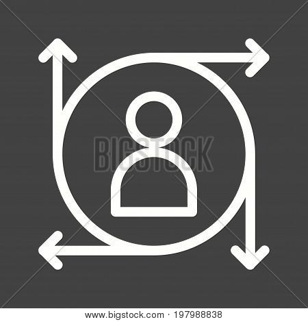 Predictions, data, technology icon vector image. Can also be used for Data Analytics. Suitable for mobile apps, web apps and print media.