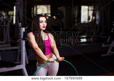 Young Attractive Young Muscular Woman Bodybuilder With Perfect B