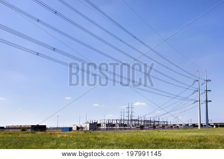 Substation of a power station in the Netherlands