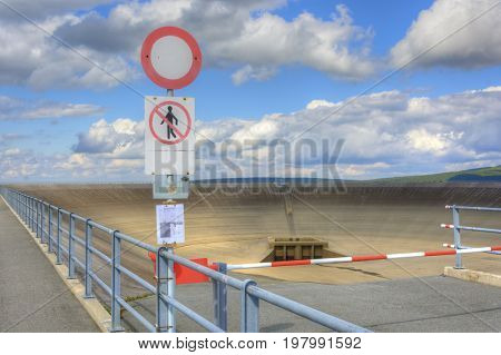 Empty Upper Dam Of The Pumping Hydroelectric Power Plant In The