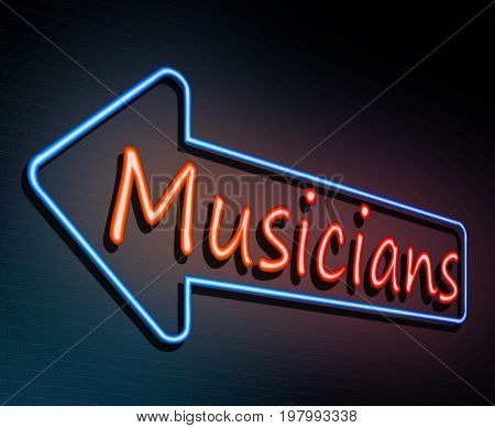 Neon Musicians Concept.