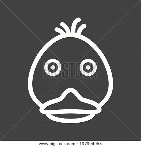 Ducks, duckling, animal icon vector image. Can also be used for Animals Faces. Suitable for mobile apps, web apps and print media.