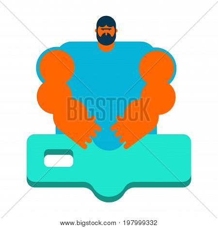 Masseur. Specialist For Massage. Massage Table. Strong Man Of Chiropractors. Vertebral Neurologist,