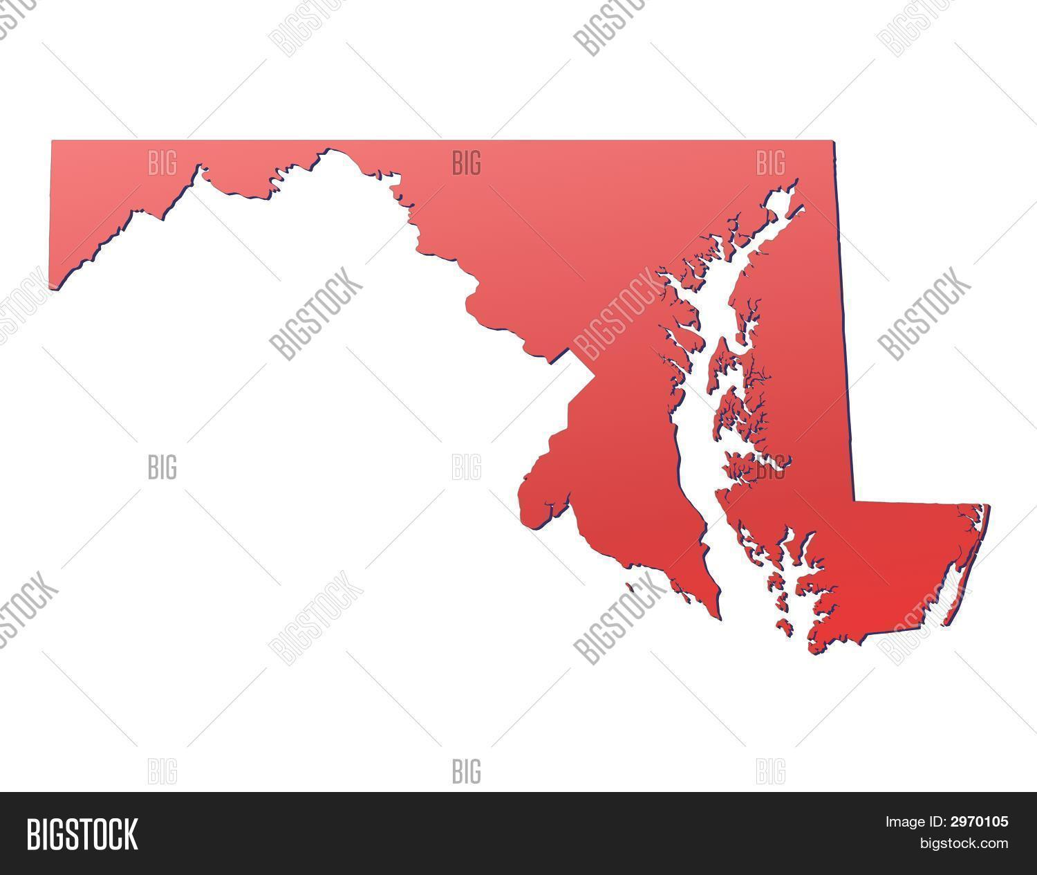 Maryland On Usa Map.Maryland Usa Map Image Photo Free Trial Bigstock