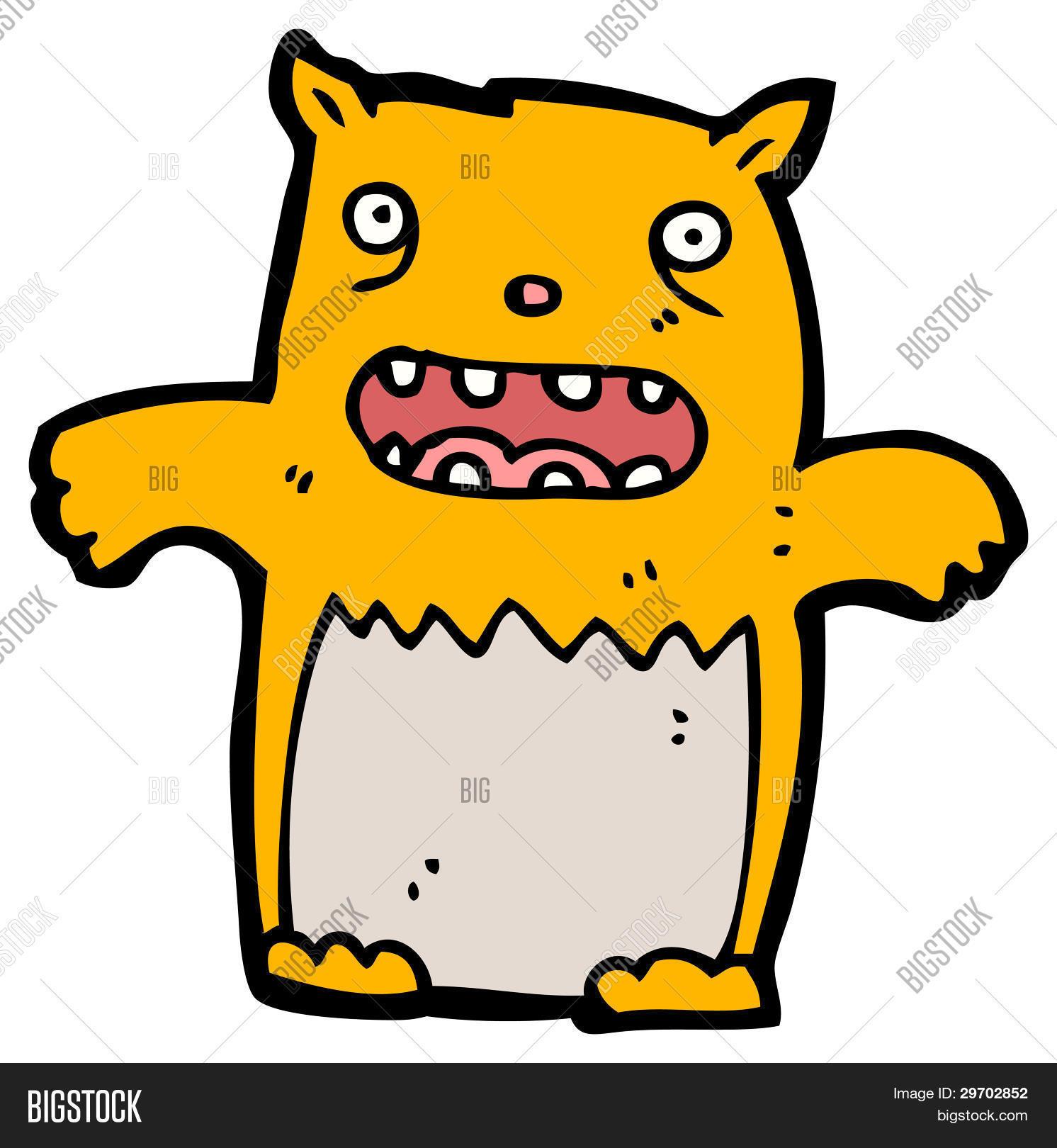 Ugly Cartoon Cat Image Photo Free Trial Bigstock