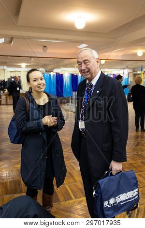 Dnipro, Ukraine - 2019 April, 21: Representatives Of The Osce And Odihr Election Observation Mission