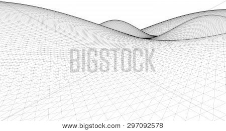 Abstract Terrain Wireframe Landscape Background,  Topographic, Landscape, Topography, Land, Mountain