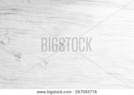 Table Top View Of Wood Texture In White Light Natural Color Background. Grey Clean Grain Wooden Floo