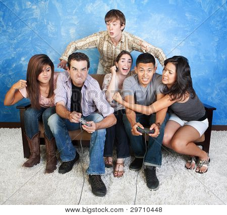Teens Fighting Over Games
