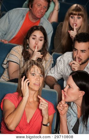 Phone Silence In Theater
