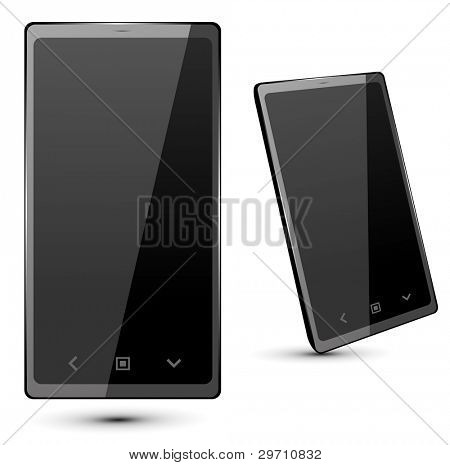 Fictitious  touch smartphone 4. Vector Illustration.