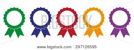 Set Of Colorful Award Medals Vector Illustration Eps10
