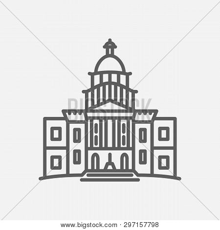 Congress Icon Line Symbol. Isolated  Illustration Of  Icon Sign Concept For Your Web Site Mobile App
