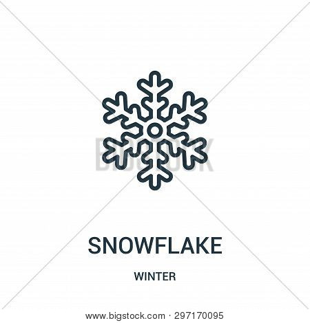 Snowflake Icon Isolated On White Background From Winter Collection. Snowflake Icon Trendy And Modern