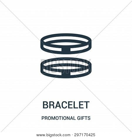 Bracelet Icon Isolated On White Background From Promotional Gifts Collection. Bracelet Icon Trendy A