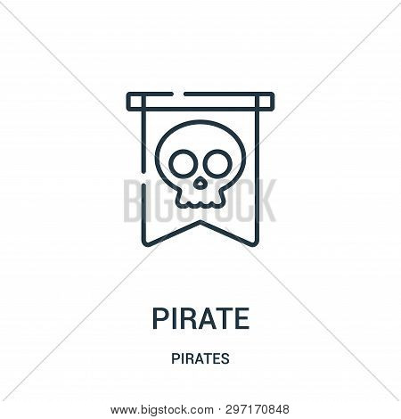 Pirate Icon Isolated On White Background From Pirates Collection. Pirate Icon Trendy And Modern Pira