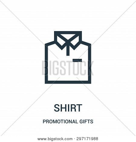 Shirt Icon Isolated On White Background From Promotional Gifts Collection. Shirt Icon Trendy And Mod