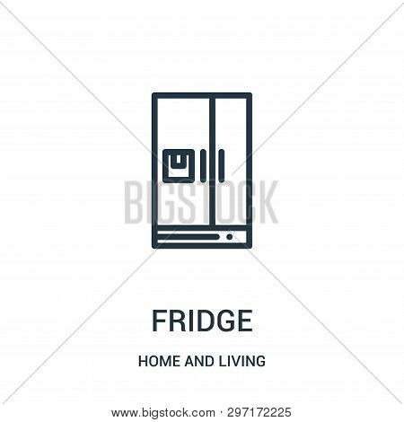 Fridge Icon Isolated On White Background From Home And Living Collection. Fridge Icon Trendy And Mod