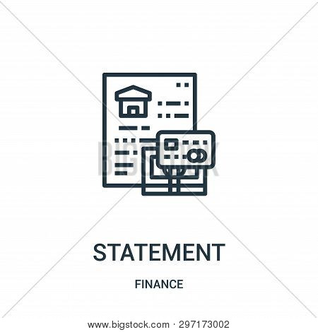 Statement Icon Isolated On White Background From Finance Collection. Statement Icon Trendy And Moder